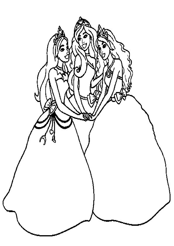 Dibujos para colorear barbie escuela de princesas - Imagui