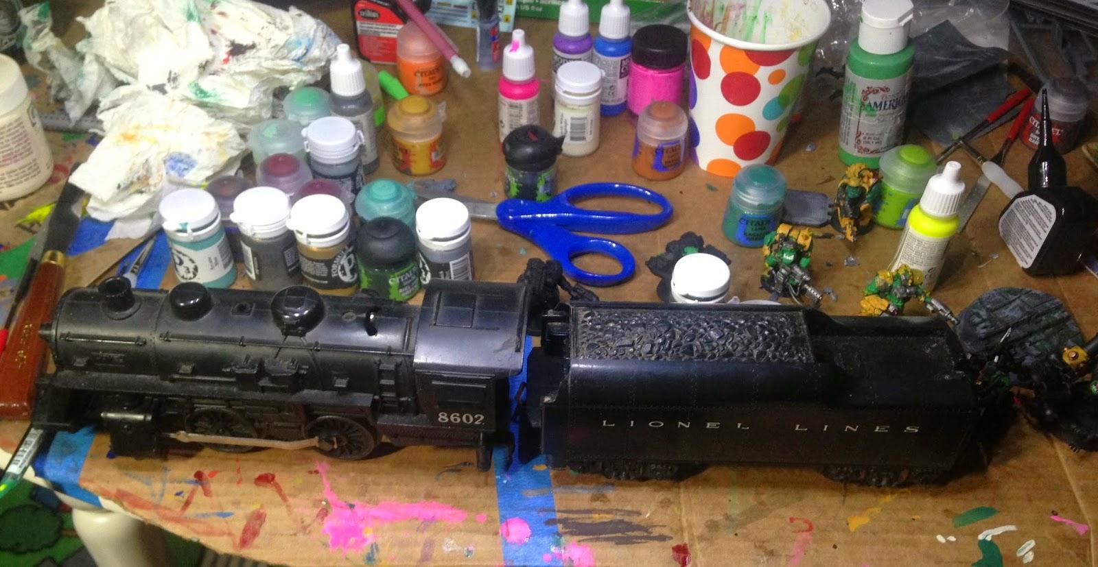Battle Gaming One, Dakka Chugga, Ork Train, Lionel Train