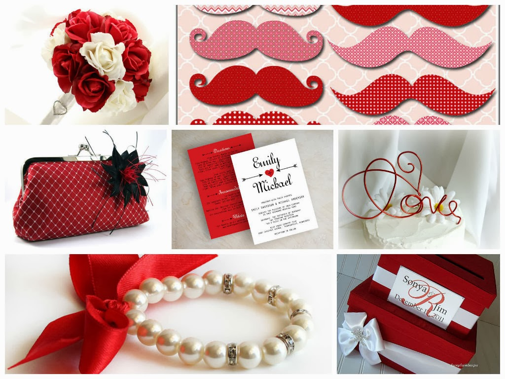 Valentine's Day Weddings Inspiration Board, curated by Sugarplum Garters