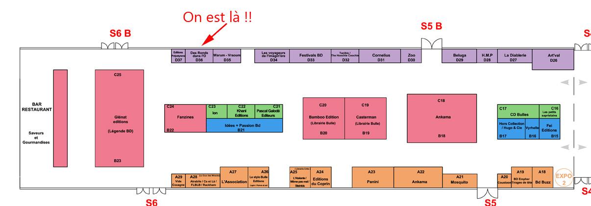 Quai des Bulles, Saint-Malo - 26, 27 et 28 octobre 2012 (plan du salon)