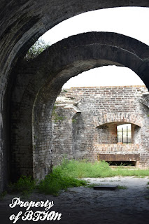 fort pickensinterior arches