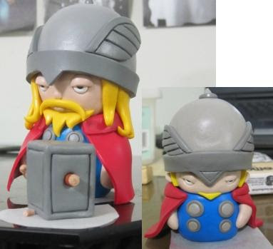 Marvel's The Mighty Thor Polymer Clay Figure and the Packaging by The Krillman Work In Progress Photos