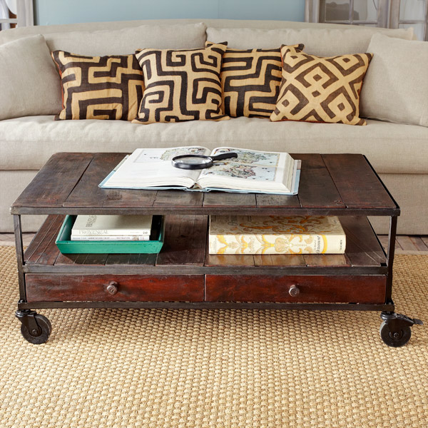 French Industrial Coffee Table: Parkdale Ave.: Wisteria? Yes Please