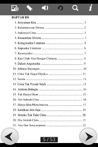 Daftar Isi puisi