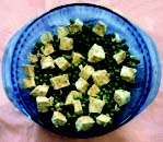 Pan Fried Tofu with Peas