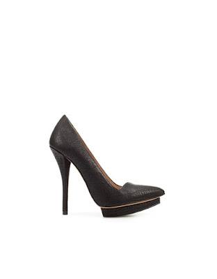 zara black platform heels