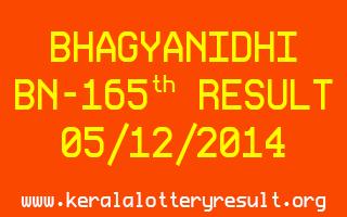 BHAGYANIDHI Lottery BN-165 Result 05-12-2014