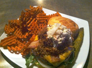 Stitch and Bear - Raleigh - Hurricane burger at Draft