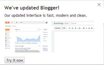 Wajah baru Blogger.com