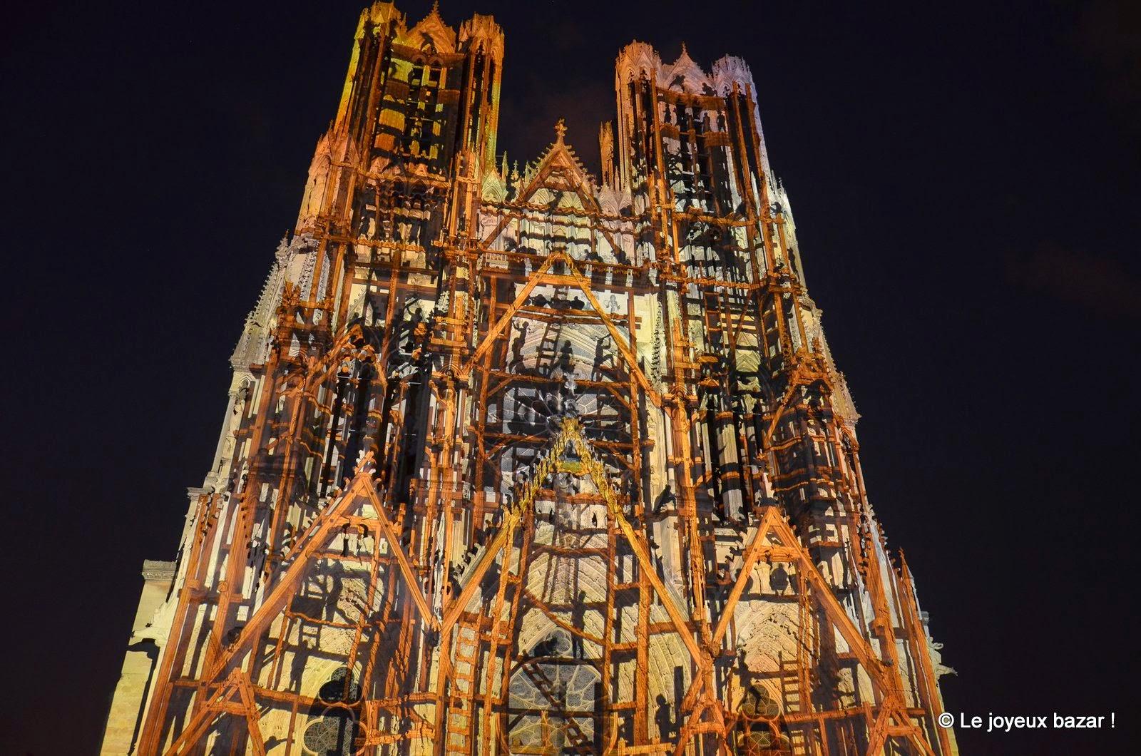 Reims -cathedrale - rêve de couleurs