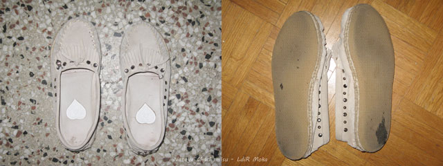 Chachamisu, review, fashion, shoes, LdiR Moka moccasin slippers test part 2, one week worn condition