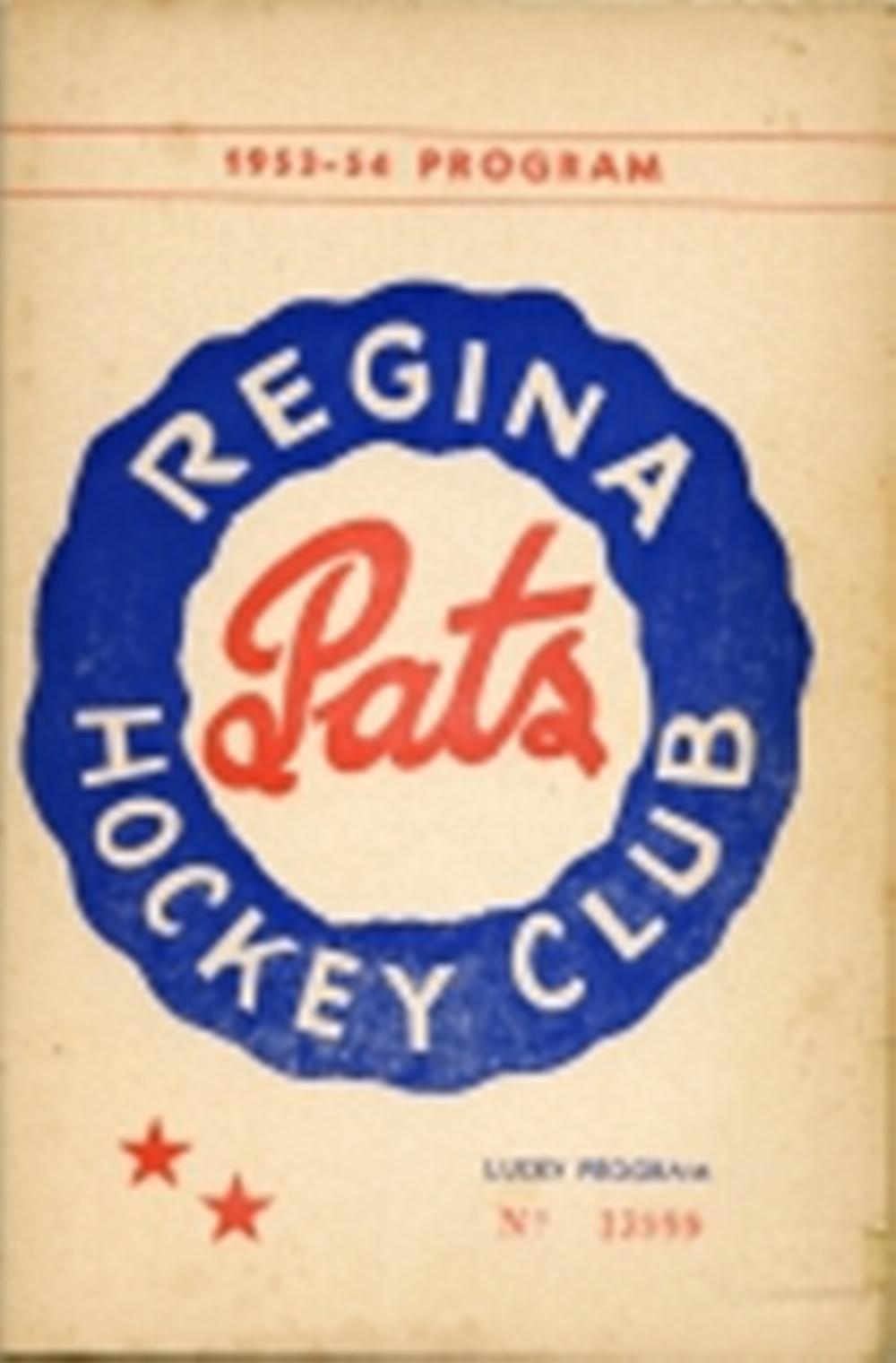 Pats Program 1953-54