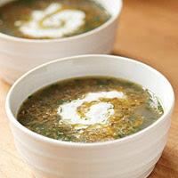Spiced Lentil Soup with Herbed Yogurt