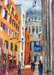 A Glimpse of St.Paul's by Liza Hirst