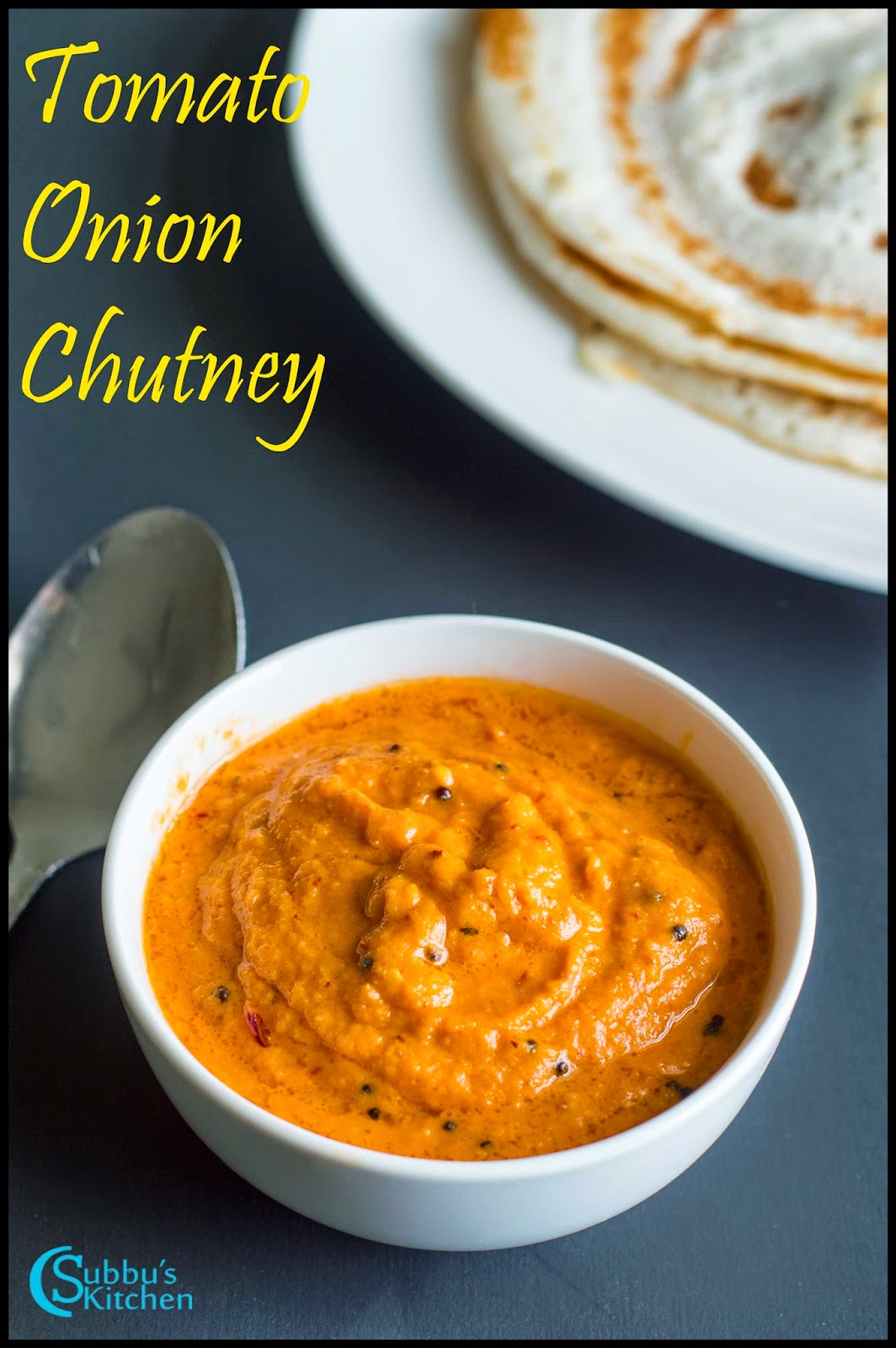 Tomato Onion Chutney - Subbus Kitchen