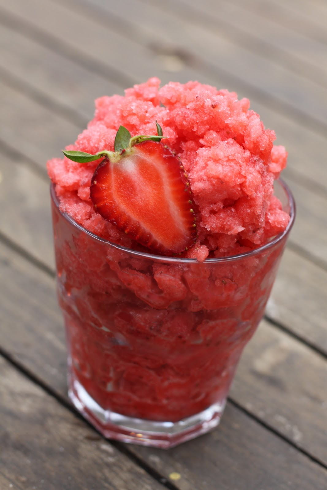 Strawberry Lemon Granita Recipe — Dishmaps