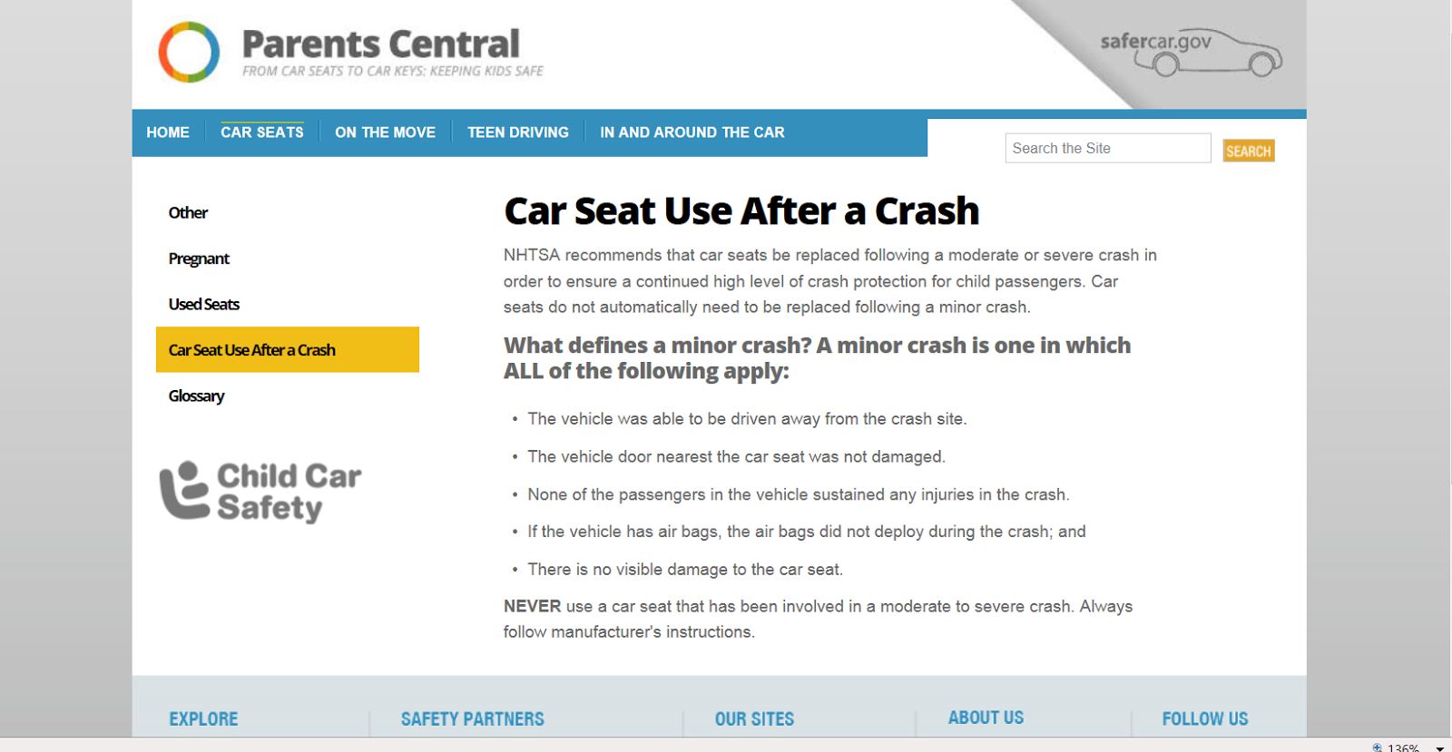http://www.safercar.gov/parents/CrashSeats.htm