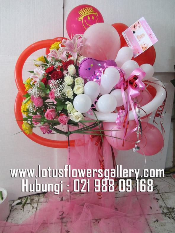 Bunga balon standing Flower elegant