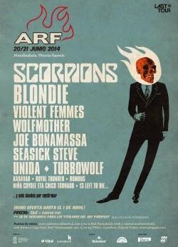Scorpions actuará en el Azkenar Rock Festival 2014