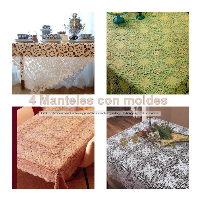 Materiales gráficos Gaby: 4 Manteles rectangulares con patrones en ...