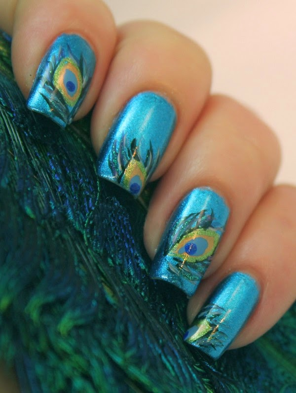Five Amazing Hand-Printed Nail Art Designs   FashionAndStyle