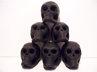 Base coated skulls
