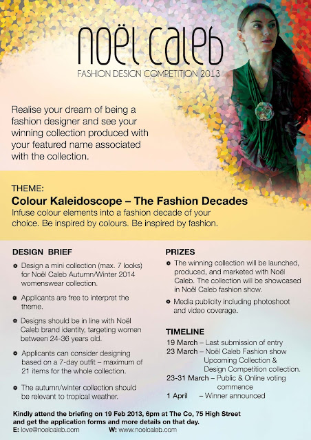 Noel Caleb Design Competition, Colour Kaleidoscope - The Fashion Decades