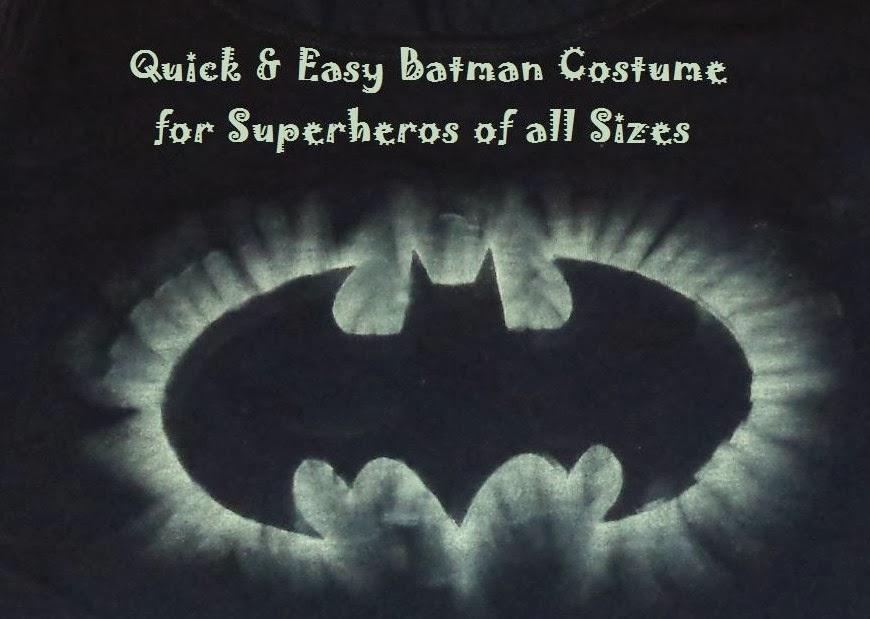 Fabrication Site Quick Easy Batman Costume