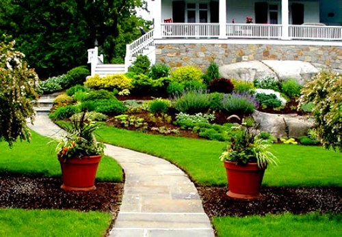 New House Backyard Design : New home designs latest Modern homes beautiful garden ideas