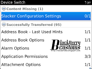 hasil Device Switch BlackBerry