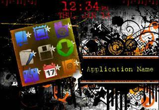 Distortion Distortion for BlackBerry Curve 8520 Themes