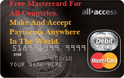 Free MasterCard For All Countries!