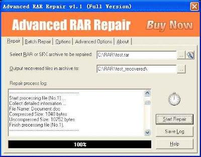 Advanced RAR Repair,Reparar arquivos, .RAR Corrompidos, rar danificados,informática forense