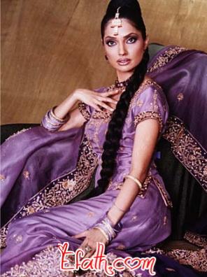 Bridal Lehenga in Purple www.fashion-beautyzone.blogspot.com