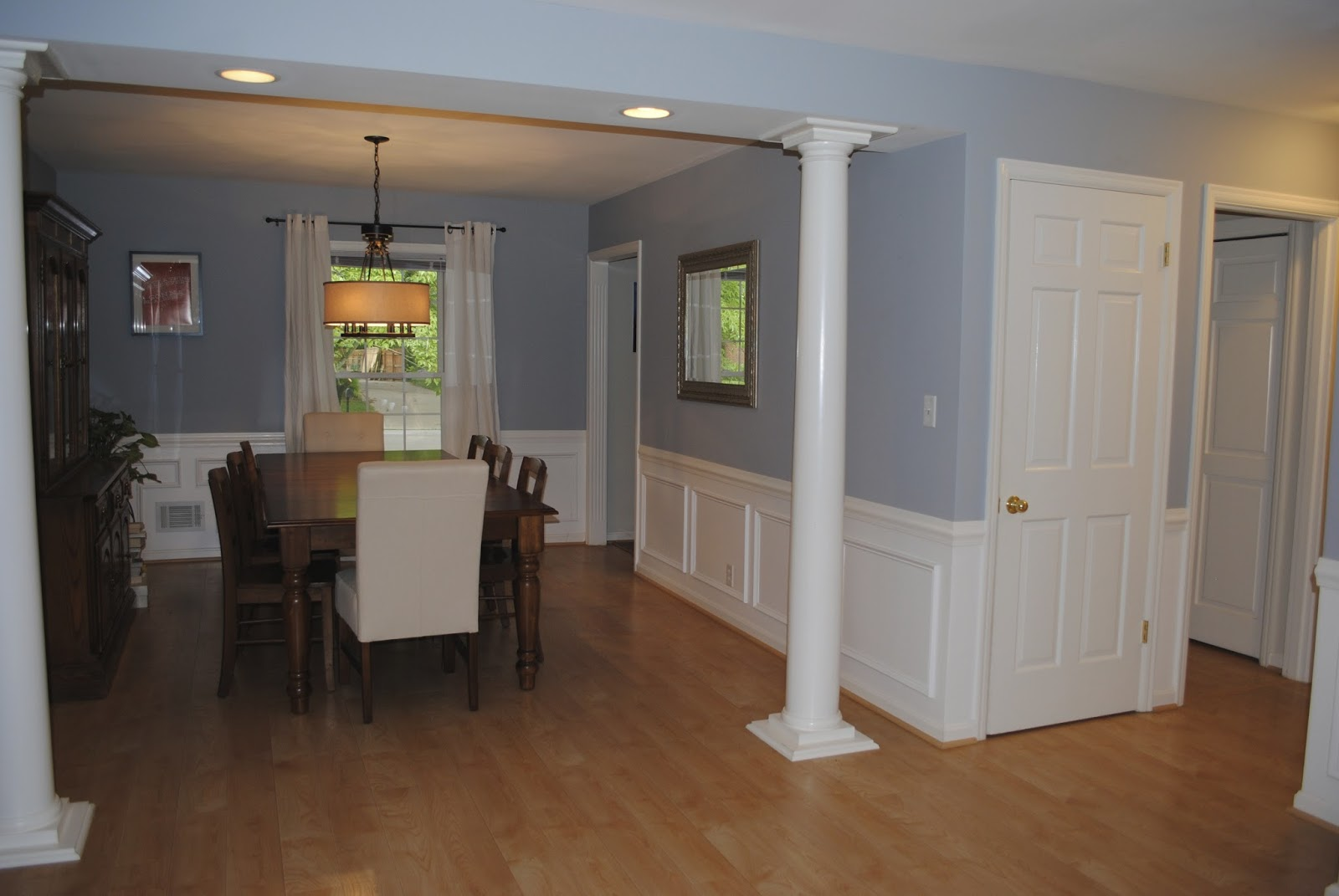 Dining Room with Picture Frame Molding