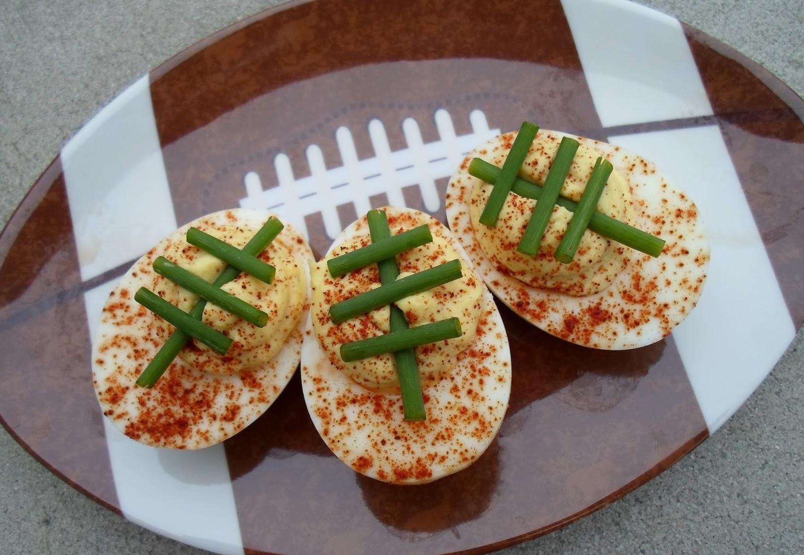 Foodball Deviled eggs fall recipe