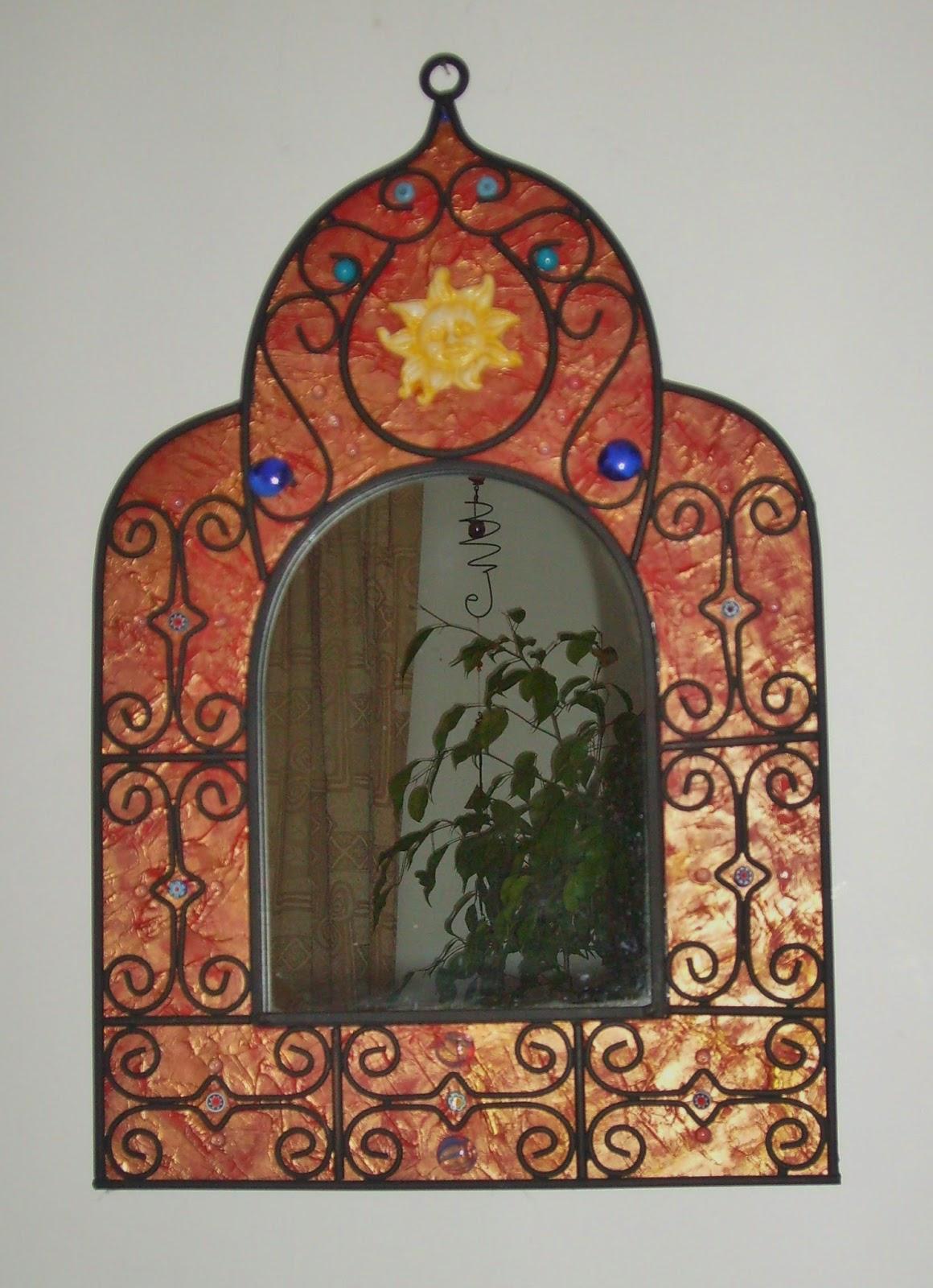création et vente sur commande de miroirs uniques originaux pour deco salon particulier par artiste severine peugniez