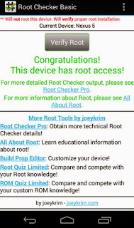 cara cek root android