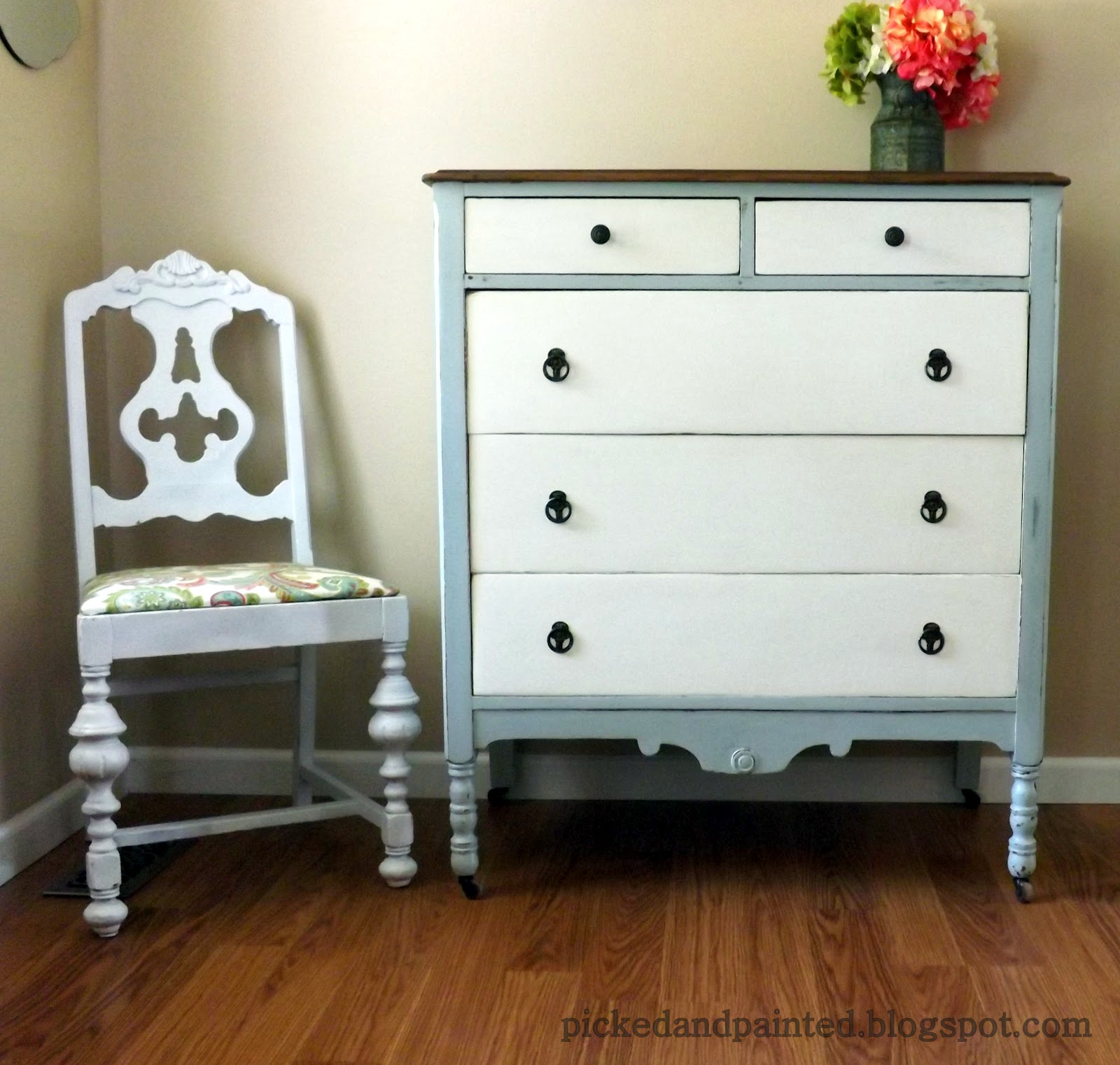 Helen Nichole Designs French Country Dressers Before After