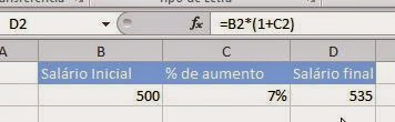 Como calcular porcentagens no Excel
