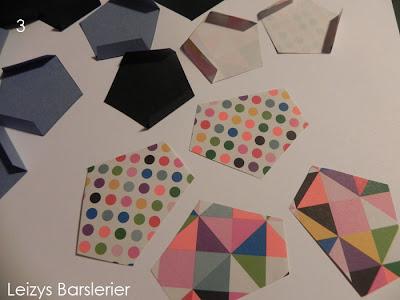 Der skal bruges 12 femkanter til en kube. jeg har brugt 4 forskellige