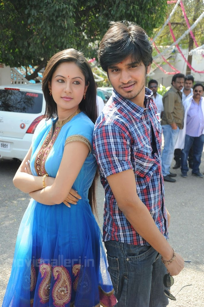 Nikhil, Pooja at Veedu Theda Movie Opening Stills