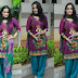 Chinmayi Ghatraju in Purple Salwar Kameez