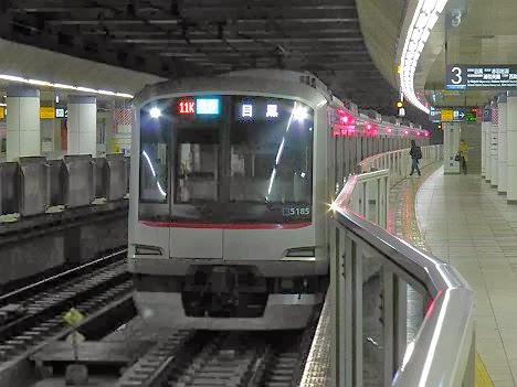 東京メトロ南北線 各停 目黒行き 5080系(終電運行)