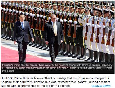Nawaz Sharif visit China