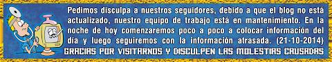 NOTIFICACIÓN PARA LOS GARRISTAS VISITANTES