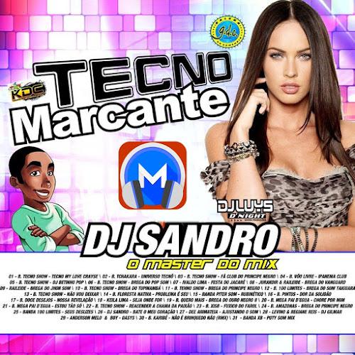 Cd volume 02 de tecnobrega marcante dj sandro o master do mix