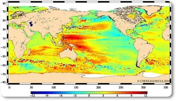Satélites detectaron aumento del nivel del mar.  Aumento+del+nivel+del+mar