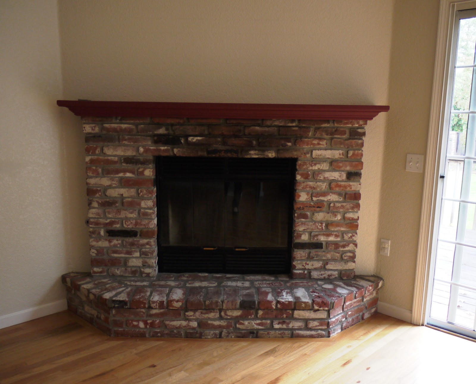 Brick Fireplace In Your House Before And After Paint Pictures