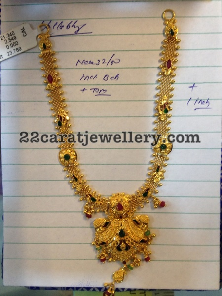 Simple gold necklace jewellery designs for Simple gold ornaments